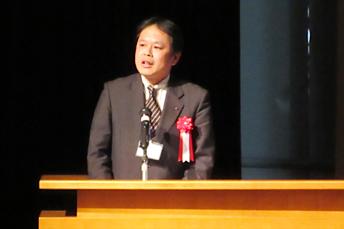 来賓ご挨拶:鈴木一弥 京都府商工労働観光部特区推進監